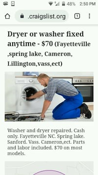 Washer and dryer repairs Spring Lake