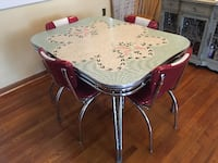 Vintage table with Retro Chairs WASHINGTON