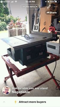 Table saw come with stand and blade  Waianae, 96792