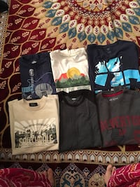 size 14-16 boys t shirts  9 count