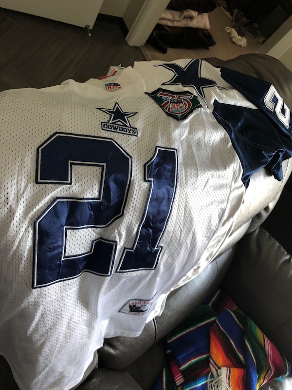 size 40 fdf61 2f136 Deion Sanders 75th anniversary Dallas Cowboys throwback Jersey.