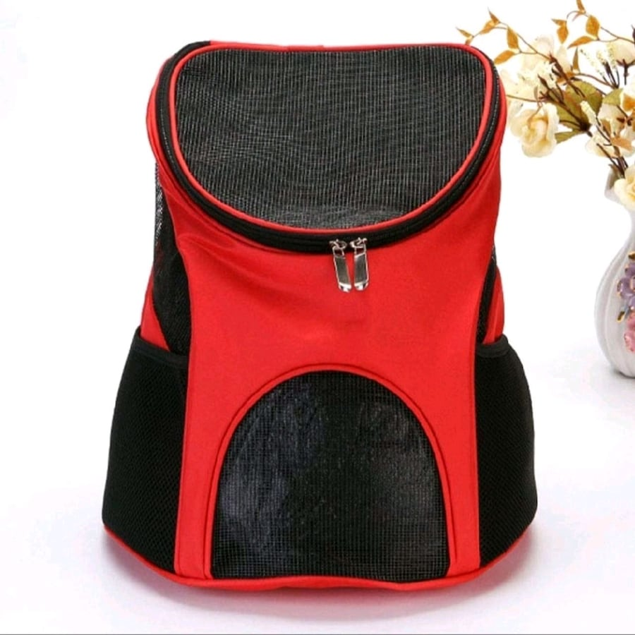 Red Pet Carrier Backpack