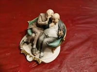 Two old men figurine