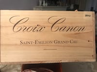 """Crate for wine bottle and great for bar decorations   Great gift for any occasion size H 7"""" x W 13 x L 19.1/2 Toronto, M8Y 1N7"""