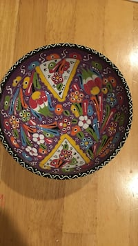 Round multicolored floral plate Gaithersburg, 20878