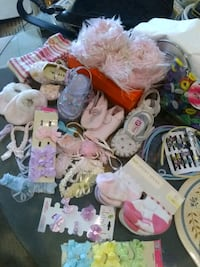Girls shoes,hair accessories