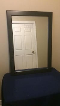 Brown framed mirror Lincoln, L0R