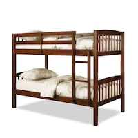 brown wooden bunk bed with white mattress Vaughan, L4J 5K6