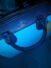 blue and black leather handbag Laurel, 20707