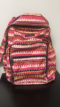 red, white, and black tribal print backpack Lilly, 15938