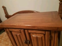 Solid wood bed frame, 2 night tables . Hand made.  Ottawa, K1L 5S1