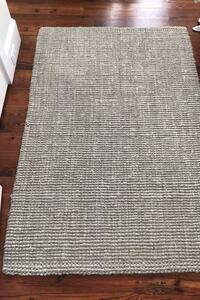 Jute rug light gray 4x6