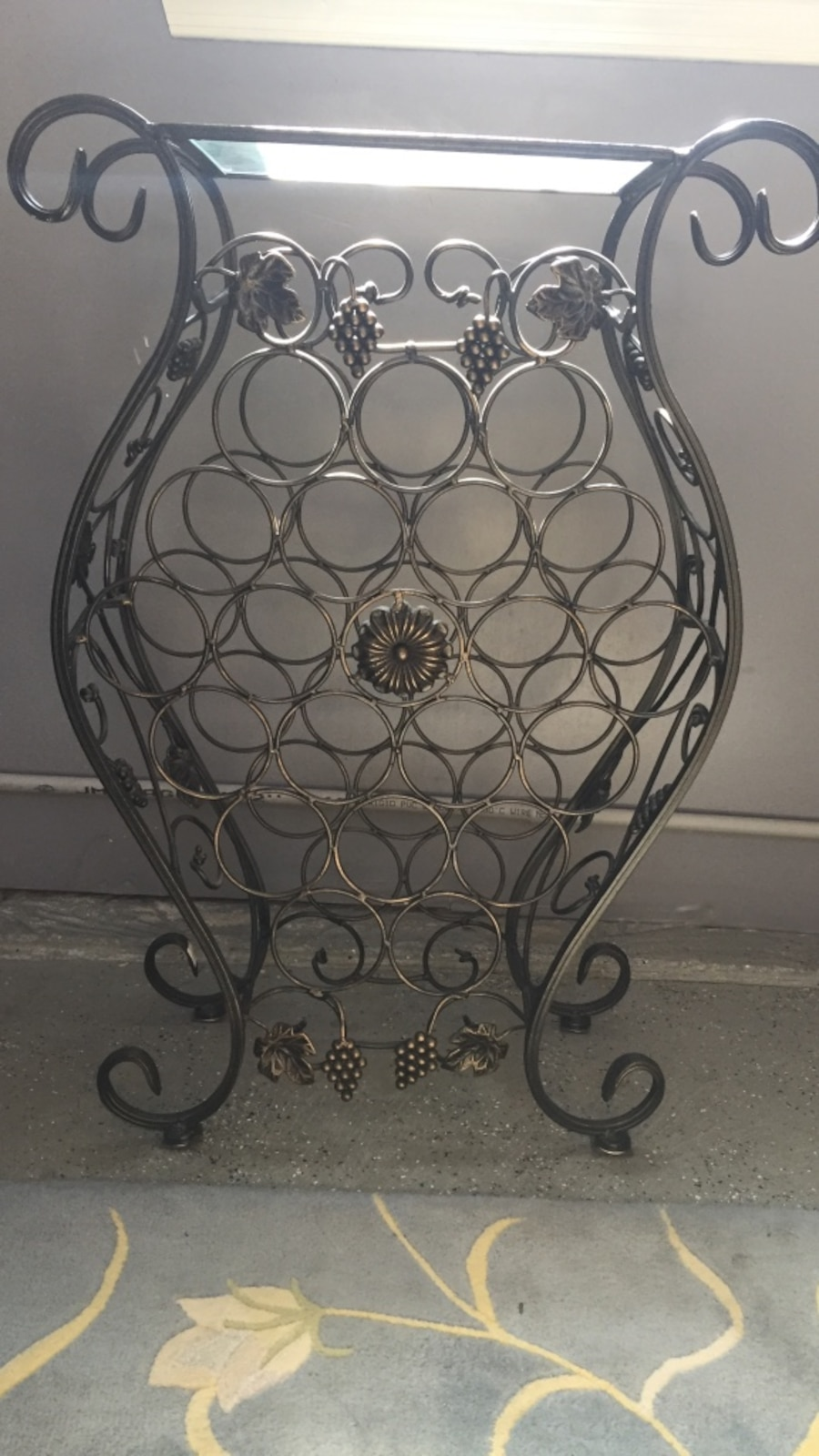 Wine rack in upper saucon letgo - Wine racks wrought iron floor standing ...