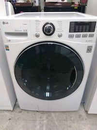 white LG front-load clothes washer 471 mi