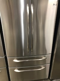 "GE Profile 4 Door Stainless Steel Fridge 36"" Inch Wide And Counter Depth - Has Ice Maker Inside. Height is 68.5"" Inch. Roughly 2 1/2 Years Old. In Clean and Good Working Condition. Haledon, 07508"