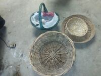 Wicker baskets, $10 for all. MPU Shallowater, 79363