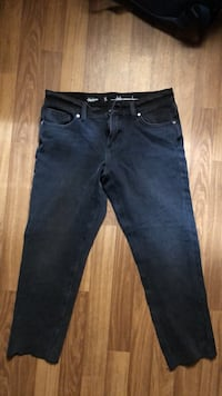HM Normal Black Jeans Short Size S Oslo, 0951