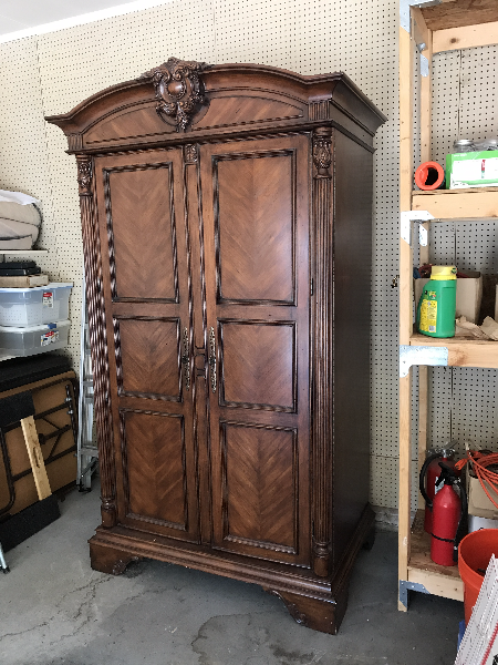 Sligh Entertainment Center Cabinet Reduced Reduced - $500