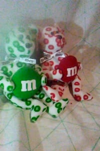 Red and Green M&M beanie babies Kenly, 27542
