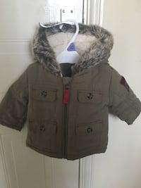 Baby&Toddler Green Khaki Parka coat