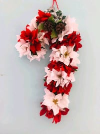 Christmas wreath poinsettia candy cane Mills River, 28759