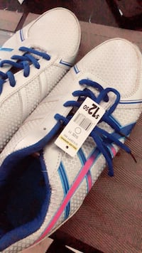 white and blue Adidas low-top sneaker Merced, 95340