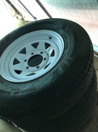 Trailer tires and rims whole set