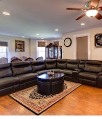 black leather sectional sofa with coffee table Baltimore, 21206