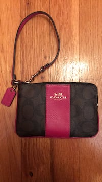 black and red Coach leather wristlet New York, 11234