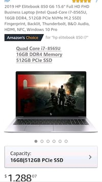 EliteBook 850 G6 i7 UltraHD
