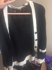 black and white striped cardigan Winnipeg