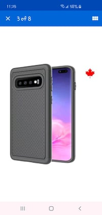 Fits Samsung Galaxy S10 Case Shockproof Rugged Rubber Impact Protectio