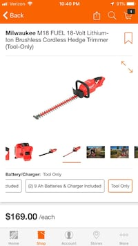 Milwaukee M18 FUEL Hedge Trimmer Linden, 22642