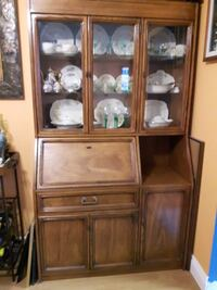 VINTAGE SKLAR PEPPLER DISPLAY CABINET SOLID WOOD CHINA CABINET