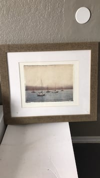 brown wooden framed painting of brown house Lubbock, 79416
