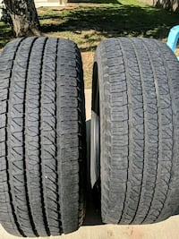 Two Goodyear Fortera tires 265/50R20