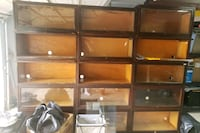 Antique stackable book cases(15), along with 3 bases and 3 caps Mount Pleasant, 29466