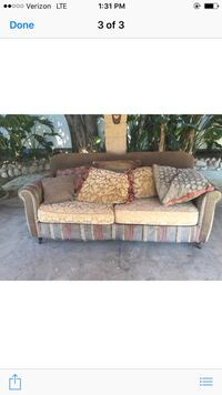 Bohemian Floral/Stripes Couch Los Angeles, 91040