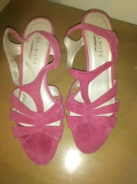 Talbots pink leather suede sandals size 7.5 strappy shoes Hyattsville, 20784
