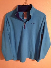 Champion 1/2 Zip Pullover Sweater Jacket Boys Large 12-14 Light baby Blue..100% polyester really nice soft comfortable pull over jacket  Cathedral City, 92234