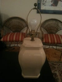 Ceramic lamp without lamp shade