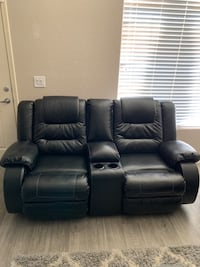 Sofa and Loveseat with built in recliners