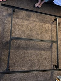 Black metal bed frame very sturdy for a queen size bed Hemet, 92544