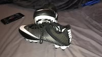 Pair of black-and-white nike cleats