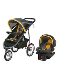 baby's black and yellow travel system District Heights, 20747