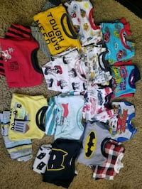14 pairs of toddler boys 3T & 4T pajamas