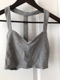 Grey Strappy Crop Top Size Small 536 km