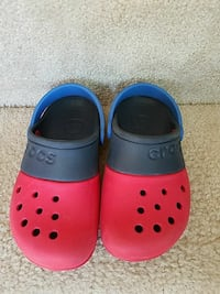 red-blue-and-black Crocs rubber clogs Woodbridge, 22191