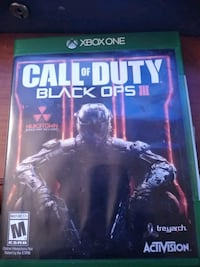 Call of Duty Black Ops 3 Xbox One game case Palm Springs, 92262