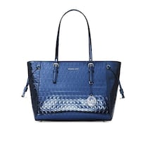 Michael Kors Voyager Steel Blue Tote Leather Salida